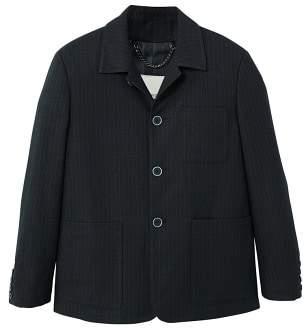 MANGO Stripe textured jacket