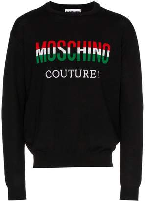 Moschino italian flag logo sweater