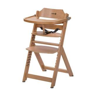 Safety 1st Timba Wooden Highchair Adjustable Baby Highchair with Detachable Tray 6 Months-10 Years
