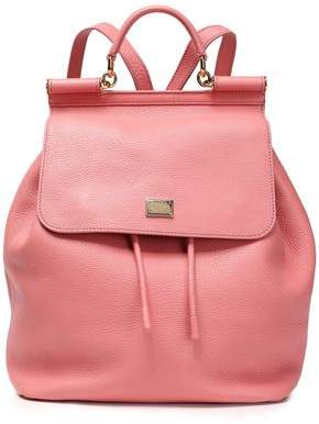 Dolce & Gabbana Sicily Pebbled-Leather Backpack