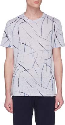 Theory 'Essential' stroke print T-shirt