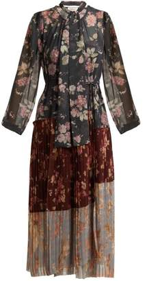 Zimmermann Unbridled Pleated Floral Print Crepe Dress - Womens - Multi
