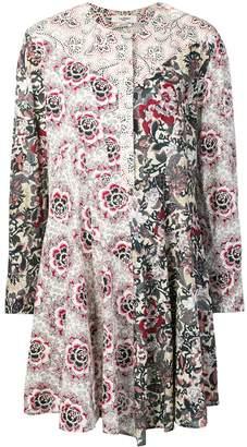 Etoile Isabel Marant Lissande contrast floral-print dress