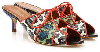 Malone Souliers by Roy Luwolt Lima Sandals with Leather and Snakeskin