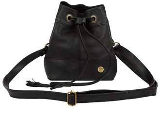 MAHI Leather - Mini Bucket Drawstring Bag In Ebony Black Leather