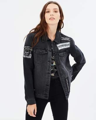 Only Caroline Stud Denim Jacket