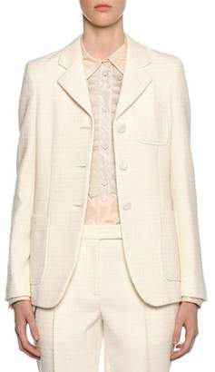 Bottega Veneta Check Boucle Blazer Jacket
