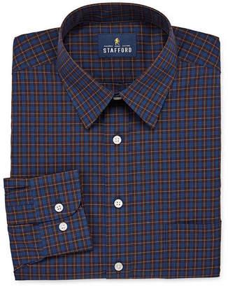 STAFFORD Stafford Travel Stretch Performance Super Shirt Big and Tall Long-Sleeve Dress Shirt