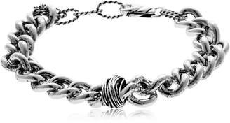Etruscan Knot Chain Link Silver Bracelet