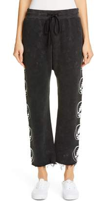 R 13 Steal Your Face Graphic Crop Sweatpants