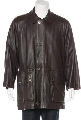 Loro Piana Leather Cashmere-Lined Jacket
