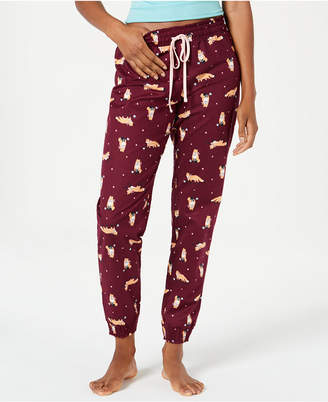 0ce127431956 Jenni Printed Cotton Woven Knit Pajama Pants