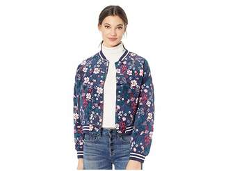 Juicy Couture Floral Quilted Bomber Jacket Women's Coat