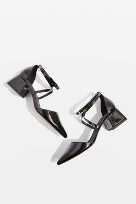 Topshop Jolly Pointed Mid Heel Flare Shoes