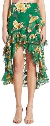 Alice + Olivia Women's Sasha Hi-Lo Tiered Ruffled Skirt