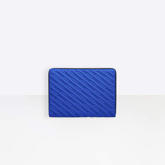 Balenciaga quilted nylon laptop pouch