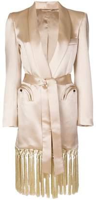 BLAZÉ MILANO fringed trench coat