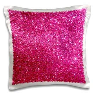 3dRose Sparkling Pink Luxury Shine Girly Elegant Mermaid Glitter - Pillow Case, 16 by 16-inch