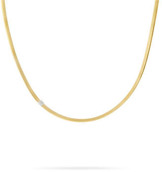 Marco Bicego Masai 18K Single-Strand Necklace with Diamond Station