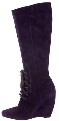 Sergio Rossi Lace-Up Knee-High Boots