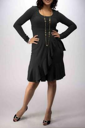 momzelle Black Nursing Dress