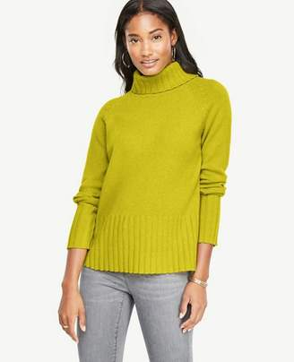 Ann Taylor Wool Cashmere Turtleneck Sweater