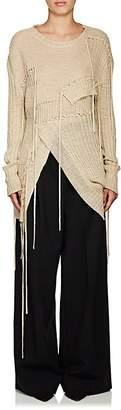J.W.Anderson Women's Fringed Hemp Cutaway Sweater