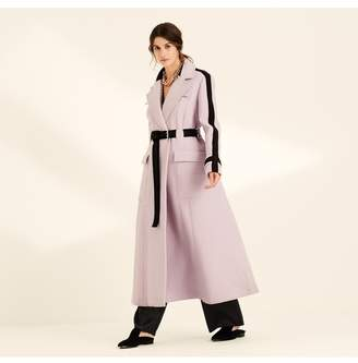 Amanda Wakeley Lilac Military Style Wool Trench Coat