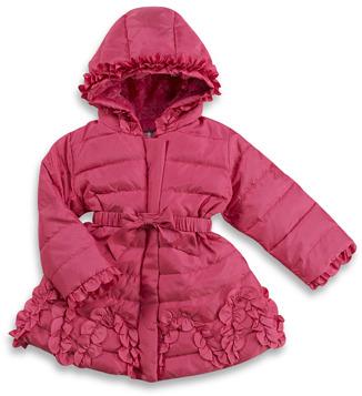 Bed Bath & Beyond Ruffle Trim Pink Coat
