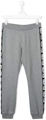 Philipp Plein Junior TEEN logo lined track pants