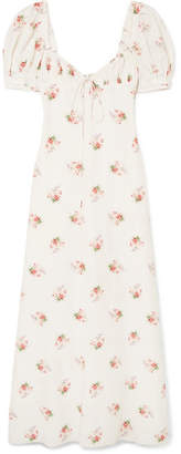 Brock Collection Doda Floral-print Cotton And Silk-blend Gown - Off-white