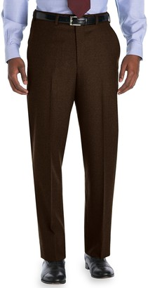 Brooks Brothers Madison Fit Plain-Front Flannel Trousers