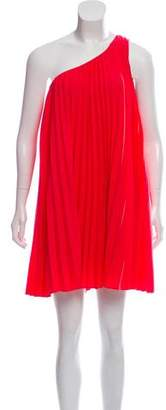 Trina Turk One-Shoulder Pleated Dress