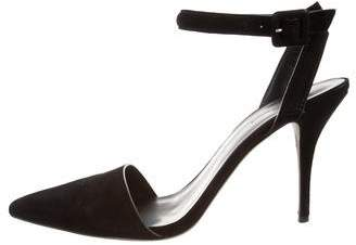 Alexander Wang Pointed-Toe Ankle Strap Pumps