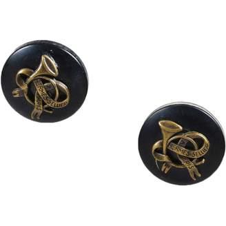 Hermes Black Metal Earrings