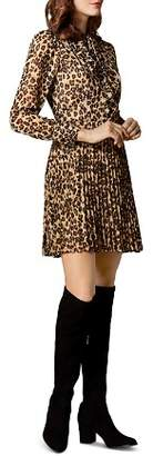 Karen Millen Pleated Leopard Print Dress