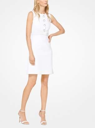 Michael Kors Stretch Cotton-Crepe Shift Dress