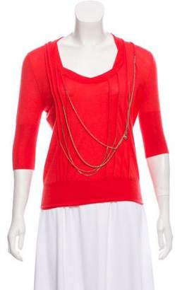 Louis Vuitton Embellished Cashmere Top