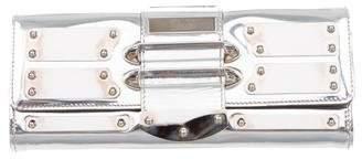 Gucci Patent Leather Mirror Clutch
