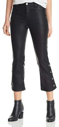 Blank NYC BLANKNYC Faux Leather Cropped Flared Pants