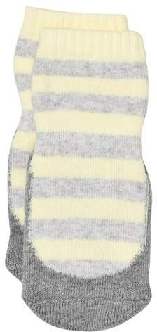 MP Yellow and Grey Clio Terry Sock Slippers