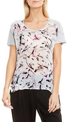 Women's Two By Vince Camuto Painterly Muses Mixed Media Tee $59 thestylecure.com