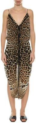 Saint Laurent Sarouelle Leopard Dress