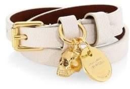 Alexander McQueen Double-Wrap Leather Bracelet