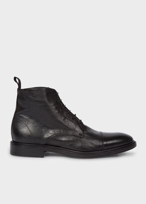Paul Smith Men's Dip-Dyed Black Calf Leather 'Jarman' Boots