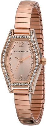 Laura Ashley Womens Rose Gold Expandable Bracelet Watch La31010Rg $345 thestylecure.com