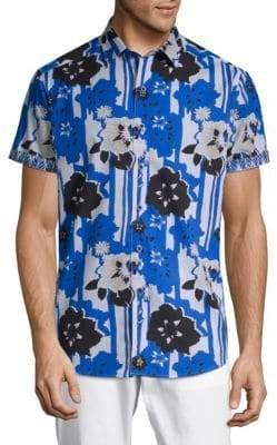 Robert Graham Cotton Floral Shirt