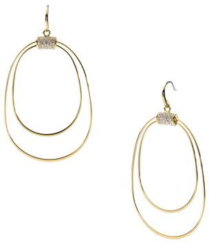 Michael Kors Whisp Pave Orbital Earrings, Golden