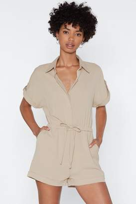 Nasty Gal You Tied That Right Utility Romper