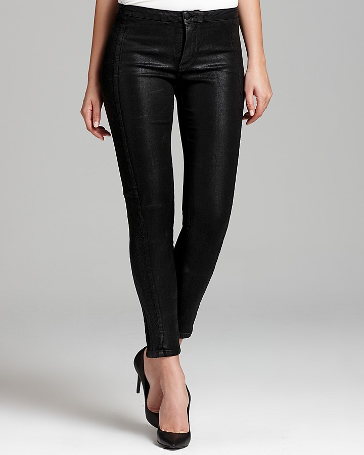 NYDJ Antonia Coated Leggings with Quilted Side